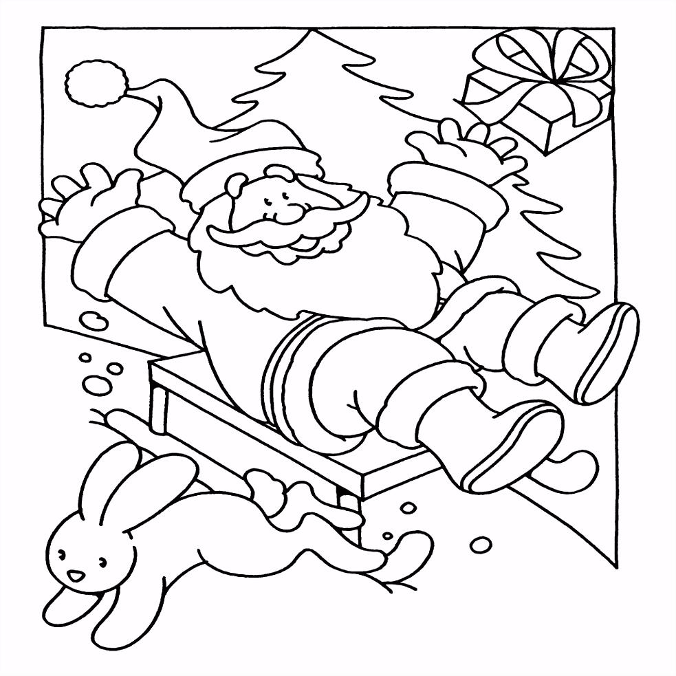 Kerst Kleurplaten Kerstman