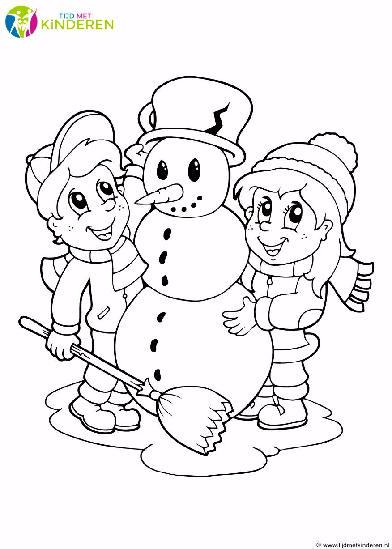 Met Sneeuwpop Kleurplaat Boek Voor Kinderen – Tandem K