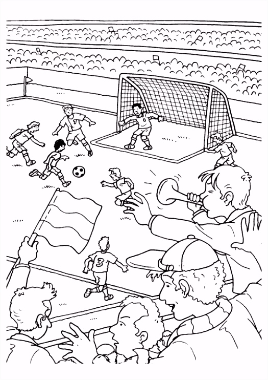 4 Voetbal Tekening