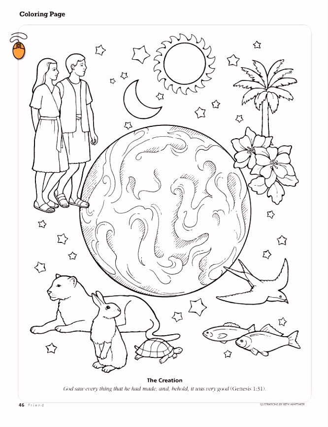 Primary 6 Lesson 3 The Creation Adult Coloring