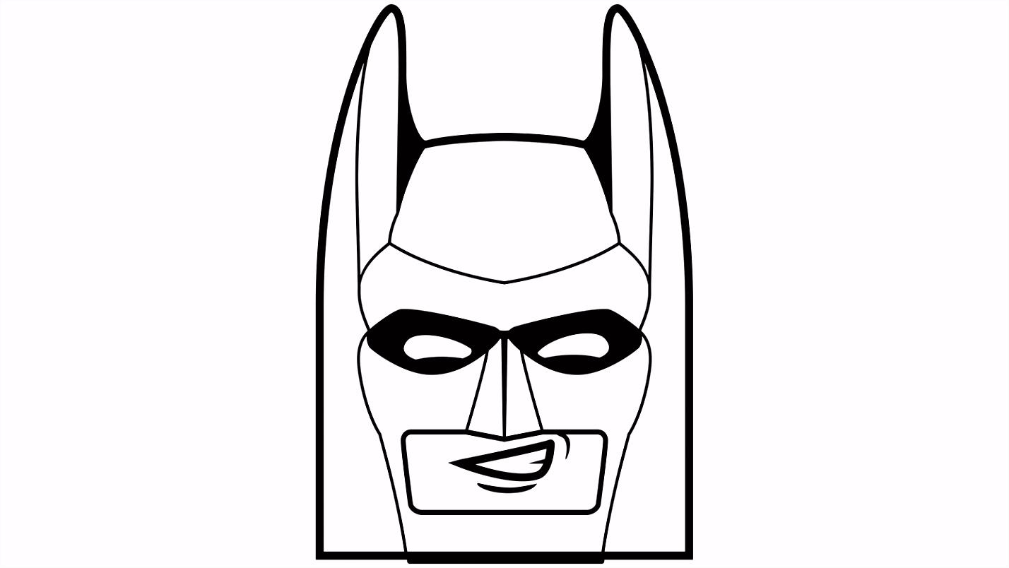 Batman™ sjabloon voor een pompoen Kleurplaten LEGO The Batman