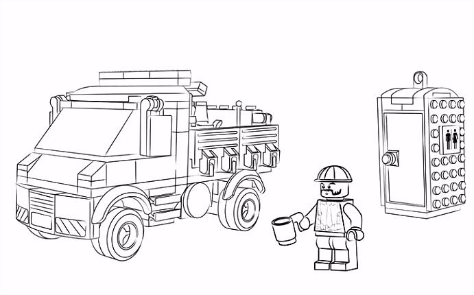 Dienstwagen Kleurplaten LEGO City LEGO NL