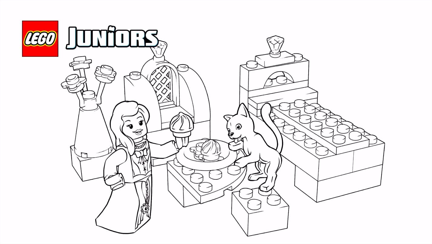 LEGO Juniors kleurplaat van koninklijke kitten Kleurplaten LEGO