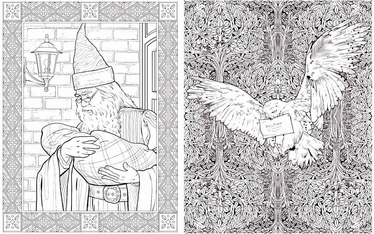 Preview The Harry Potter Colouring Book WHSmith Blog
