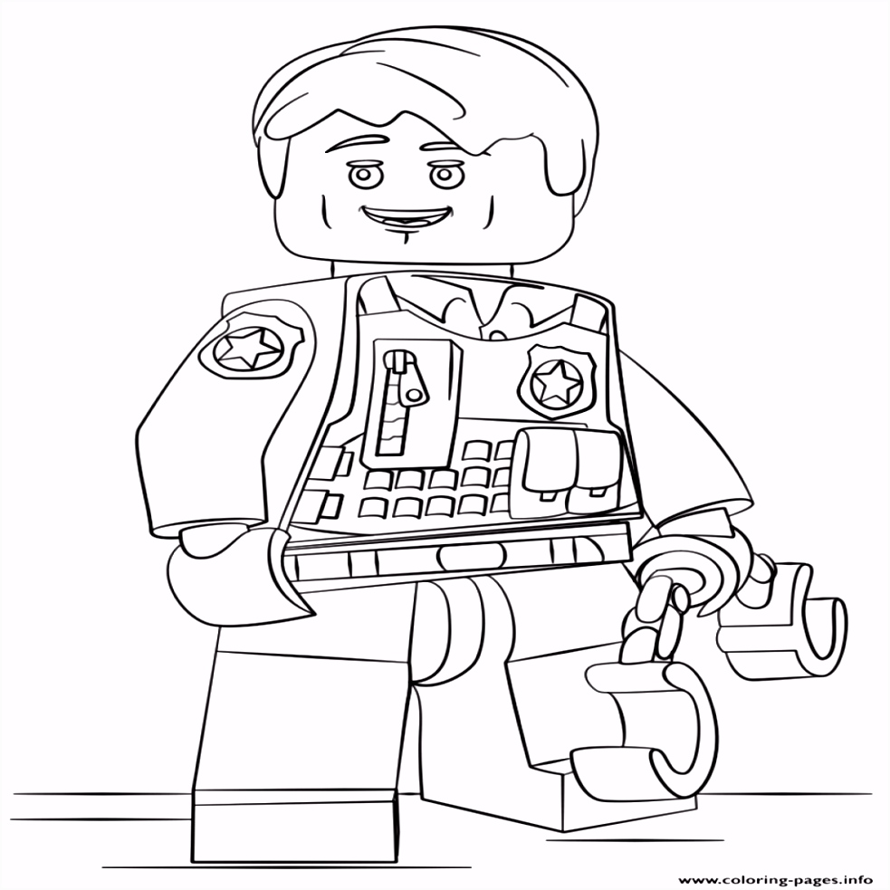 28 Collection of Lego City Undercover Coloring Pages