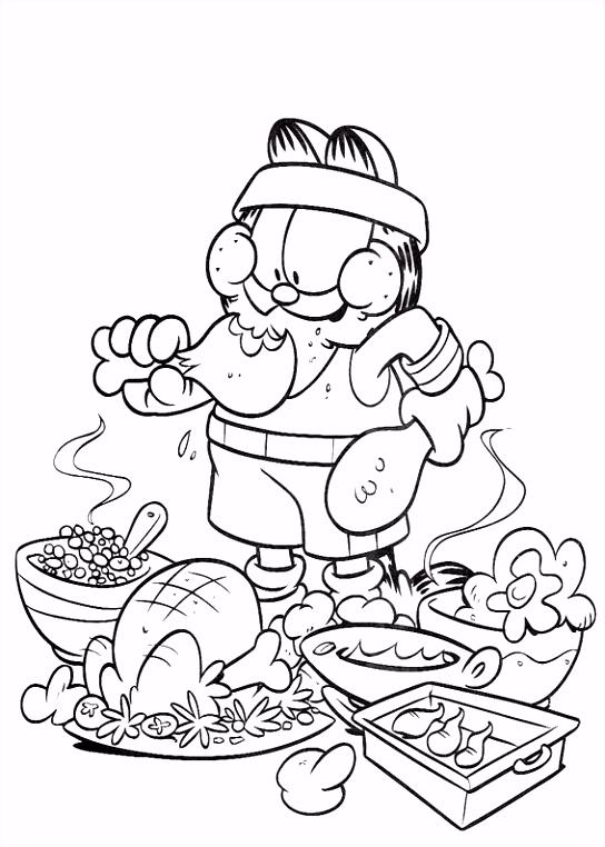 Garfield Kleurplaten voor kinderen Kleurplaat en afdrukken tekenen
