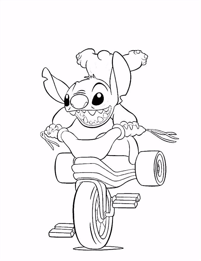 Kleurplaat en een plaatje van Lilo en Stitch kinderspeelplein