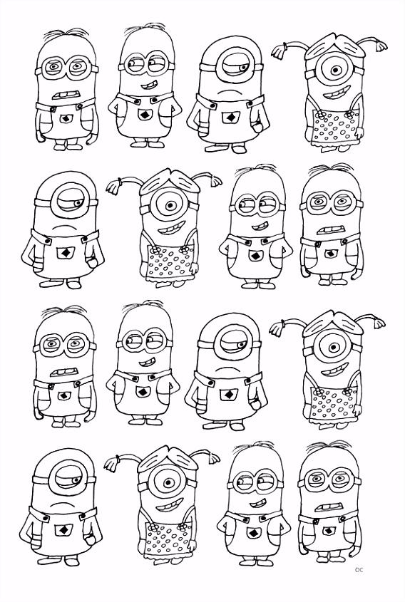 Print minions 16 kleurplaat Doodles Pinterest