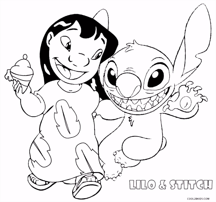 Printable Lilo and Stitch Coloring Pages For Kids