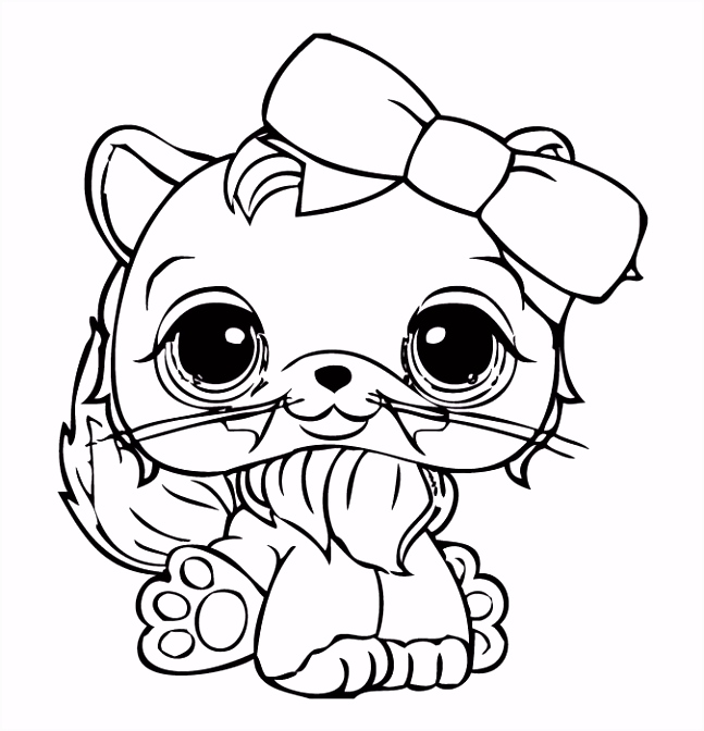 Littlest Pet Shop Coloring Pages DIBUJOS PA KOLOREO