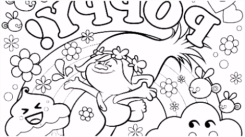 Princess Poppy Coloring Page