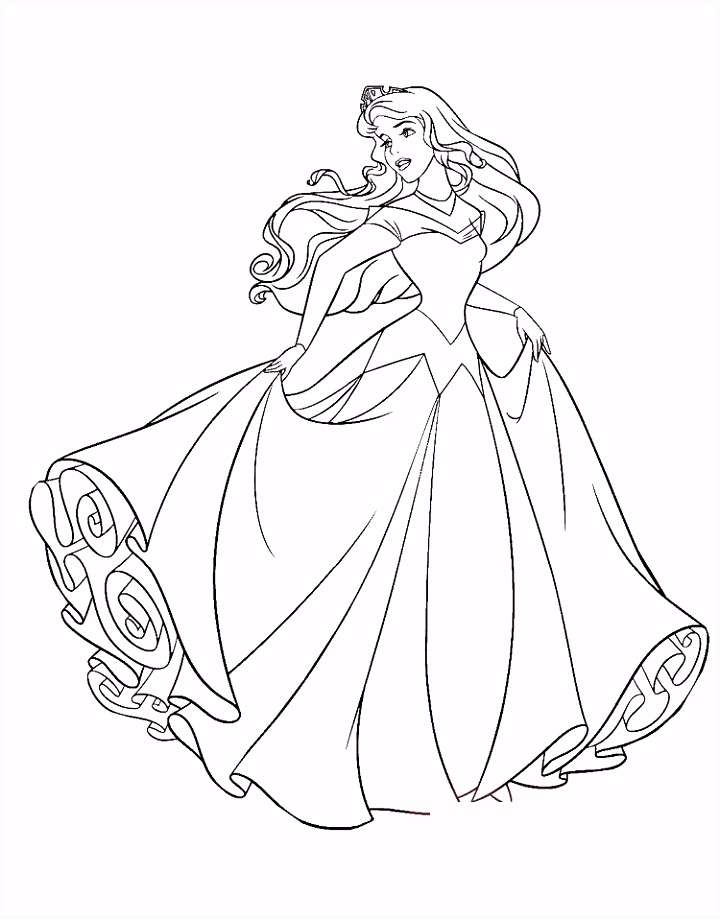 princess coloring pages sleeping beauty Coloring Pages