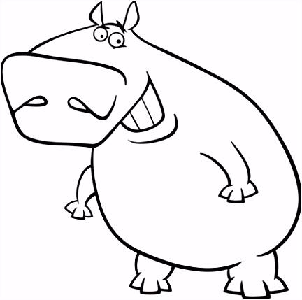nijlpaard cartoon karakter — Stockvector © izakowski