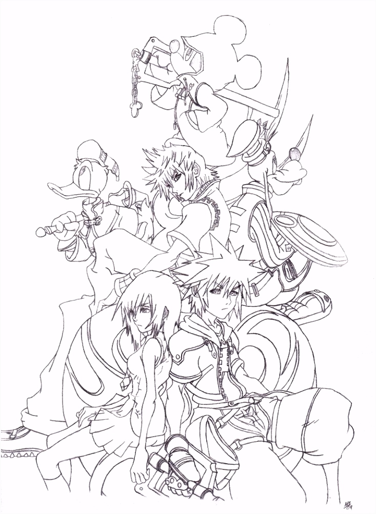 Kingdom Hearts art 1 kids Pinterest