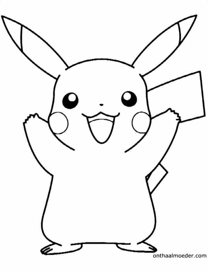 pikachu kleurplaat Drawing and art Pinterest