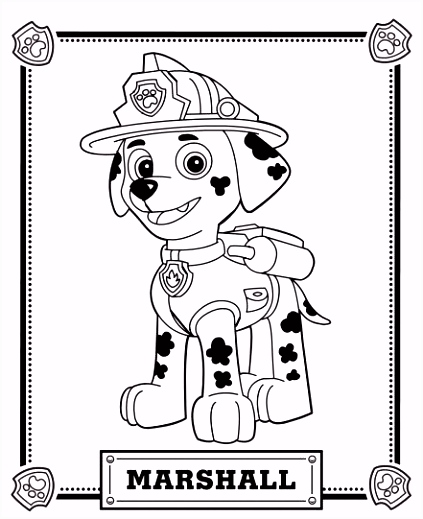 Paw patrol coloring pages Jackson bday Pinterest