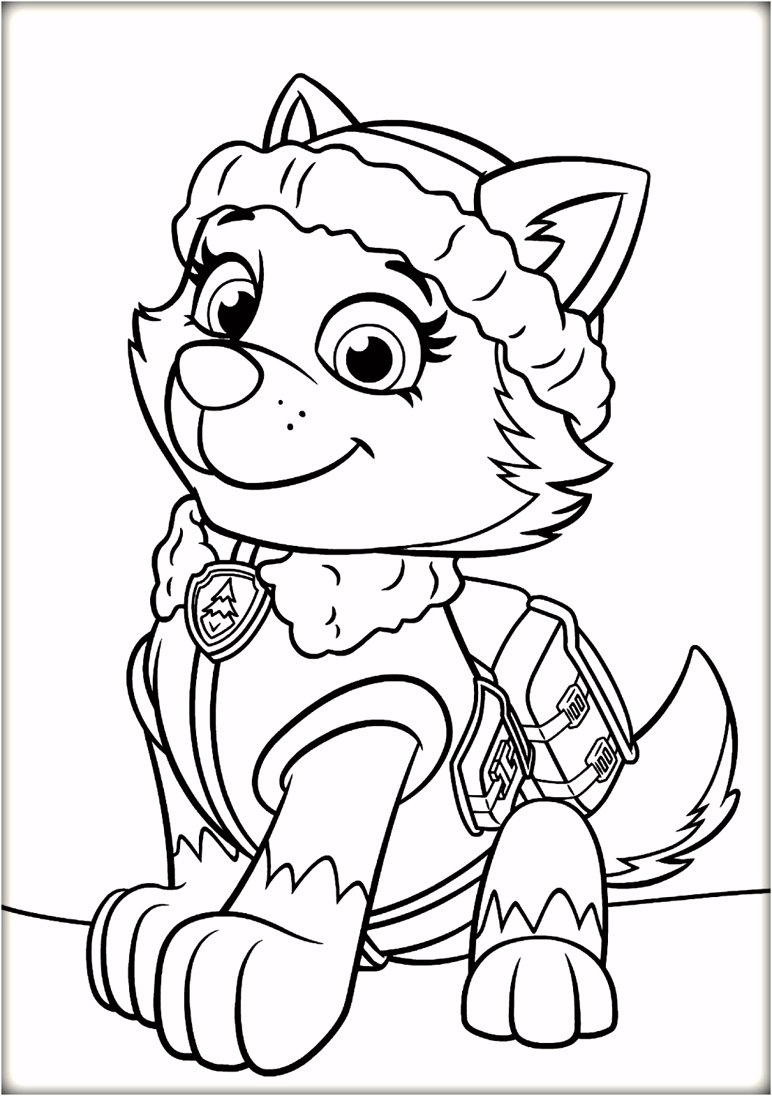 Paw patrol everest coloring pages Coloring Pages