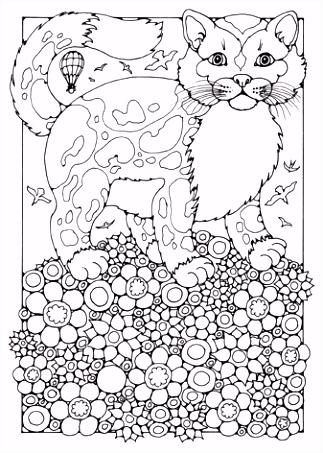 Kleurplaten Volwassenen Katten ARCHIDEV