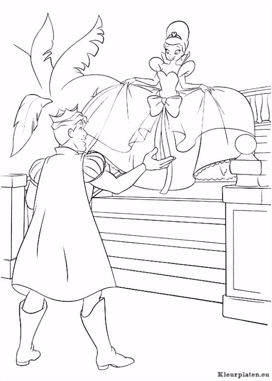 Prinses en de kikker kleurplaat kleurplaat