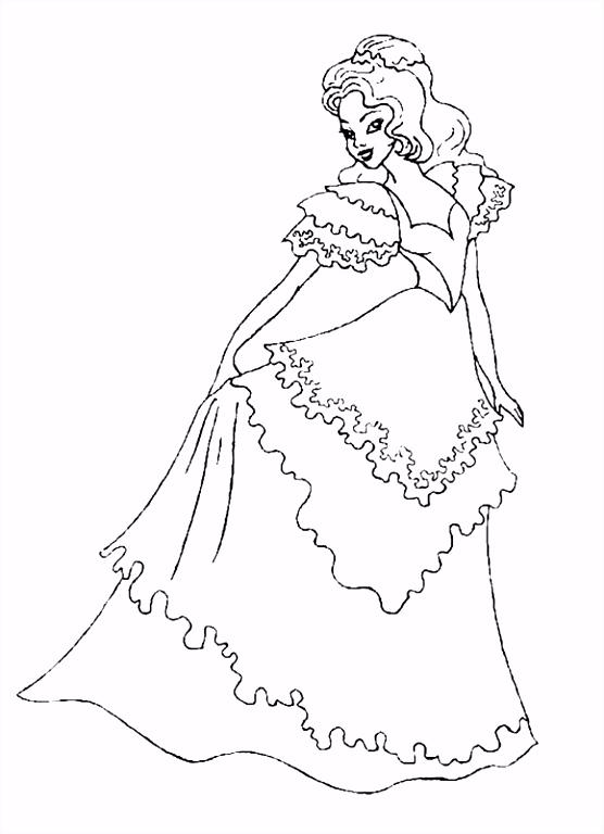 Prinses Kleurplaten Nieuw Prinsessen Kleurplaten Animaatjes