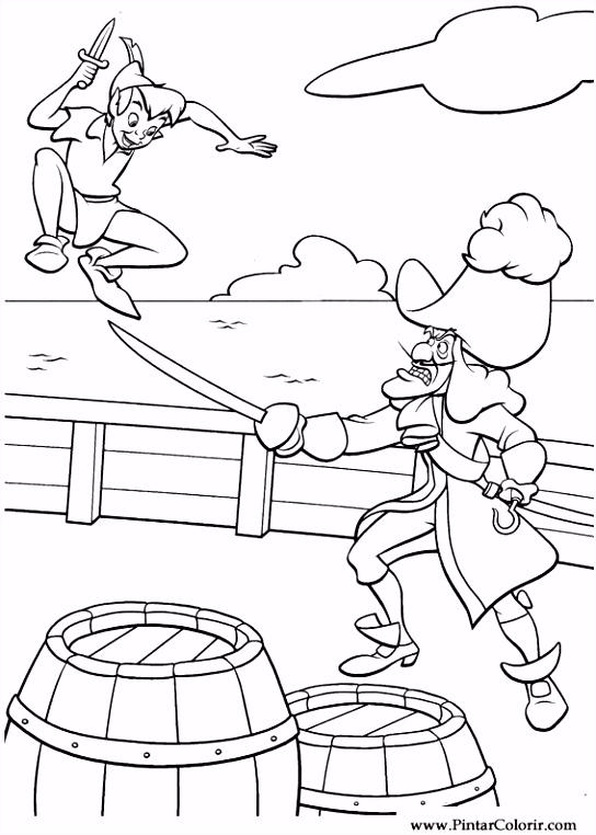 Tekeningen te schilderen & Kleur Peter Pan Print Design 026