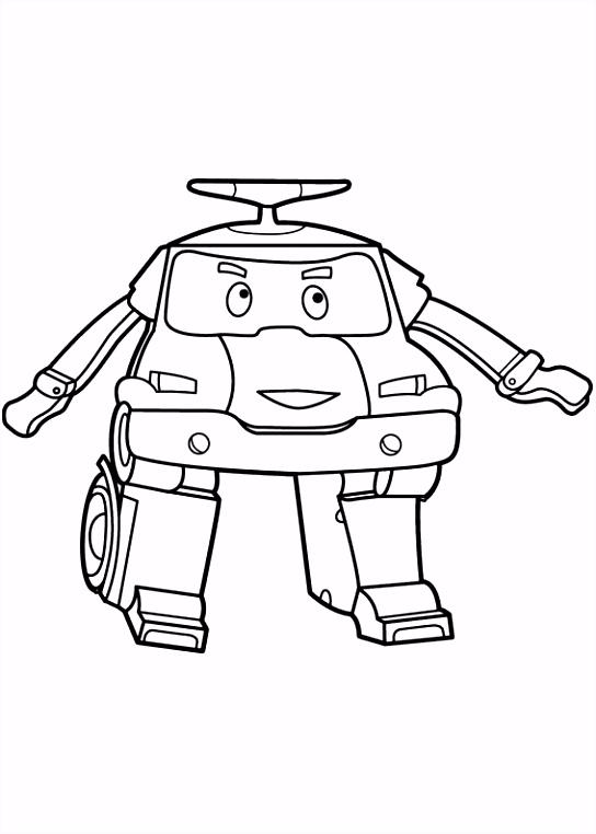 Dibujos para Colorear Robocar Poly 2