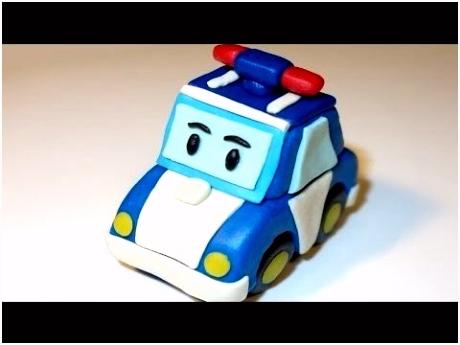 Poli Robocar in plasticine 로보카 ´ë¦¬ How to make police car Poli