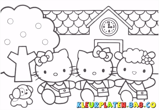 Hello Kitty Kleurplaten HELLO KITTY