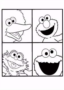 8 beste afbeeldingen van Sesamstraat Sesame street coloring pages