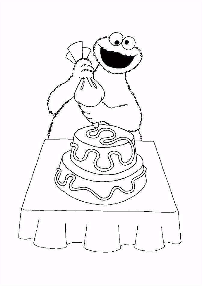 Sesamstraat koekiemonster Sesamstraat Kleurplaten Kleurplaat