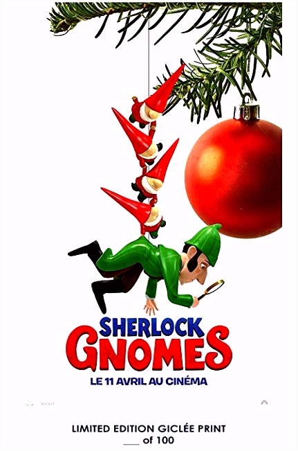 Amazon RARE POSTER star wars parody SHERLOCK GNOMES movie