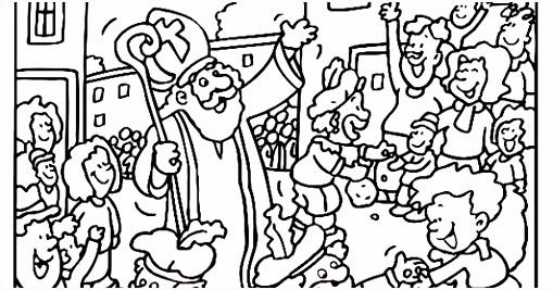 derwijs en zo voort 1842 Sinterklaas kleurplaten