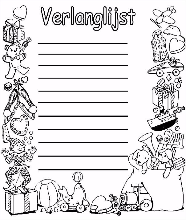 Sinterklaas Briefpapier Printen RN99