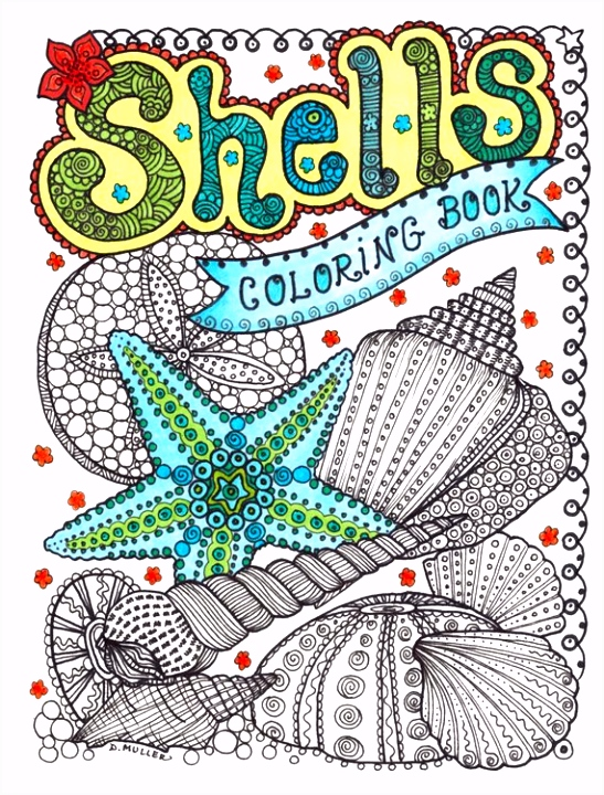 SCHELPEN kleurplaten boek ontspannen kleur volwassen kleuren