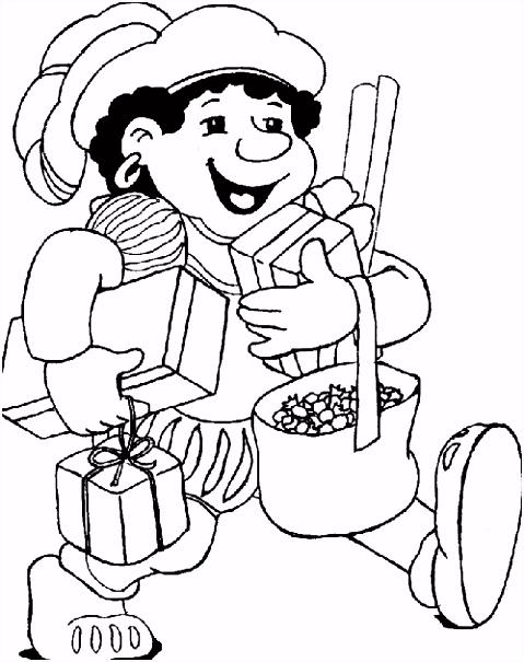 Kleurplaten Sinterklaas En Zwarte Piet 2014 Sankt Nikolaus