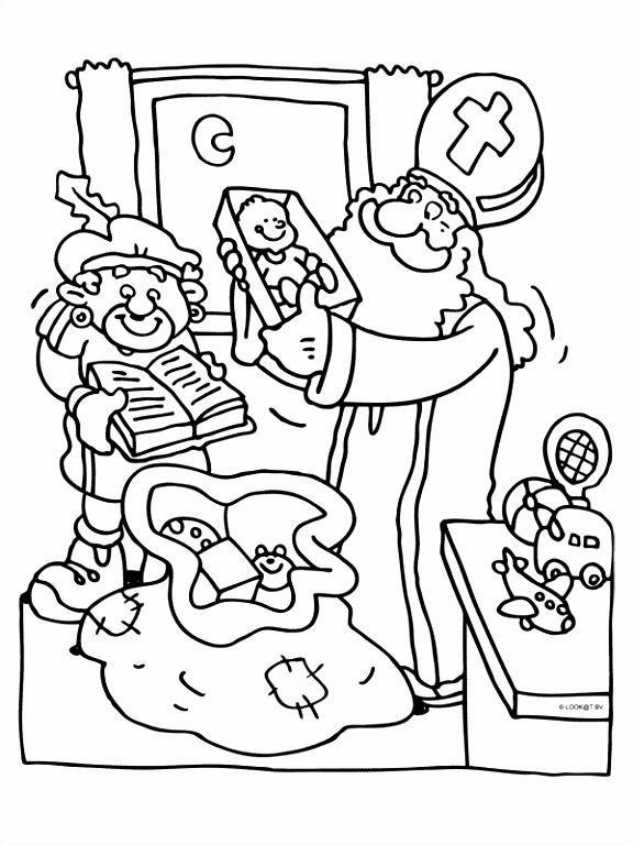 Sinterklaas en zwarte piet Knutselpagina knutselen knutselen
