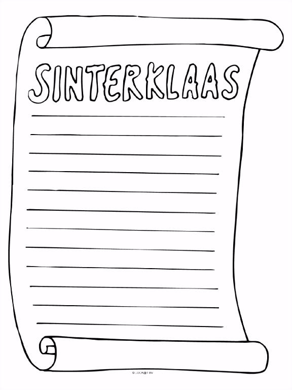 Sinterklaas verlanglijstje Knutselpagina knutselen knutselen