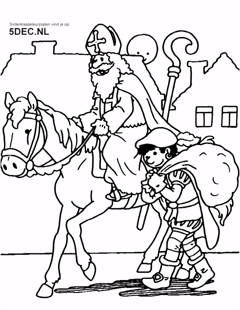Sinterklaas Knutselen – Sinterklaas Kleurplaten Idee Kleurplaten