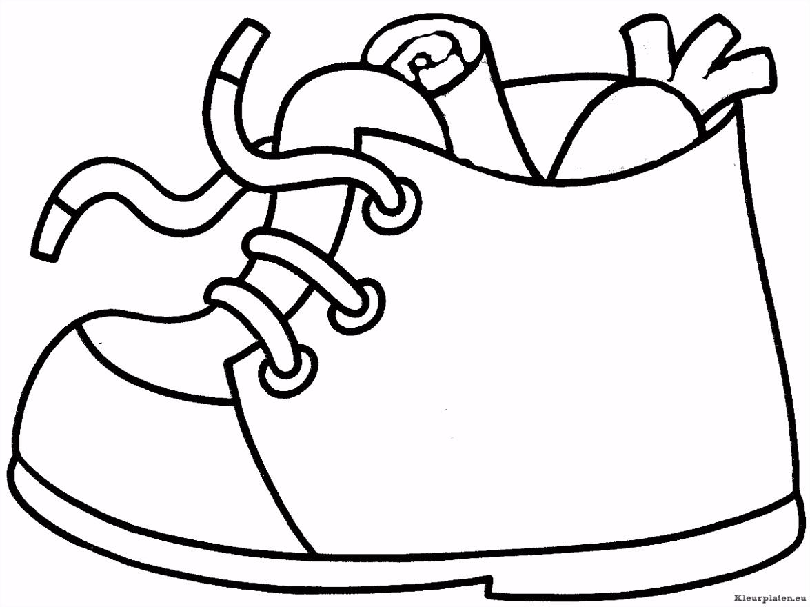 Sinterklaas schoen zetten kleurplaat Thema sinterklaas