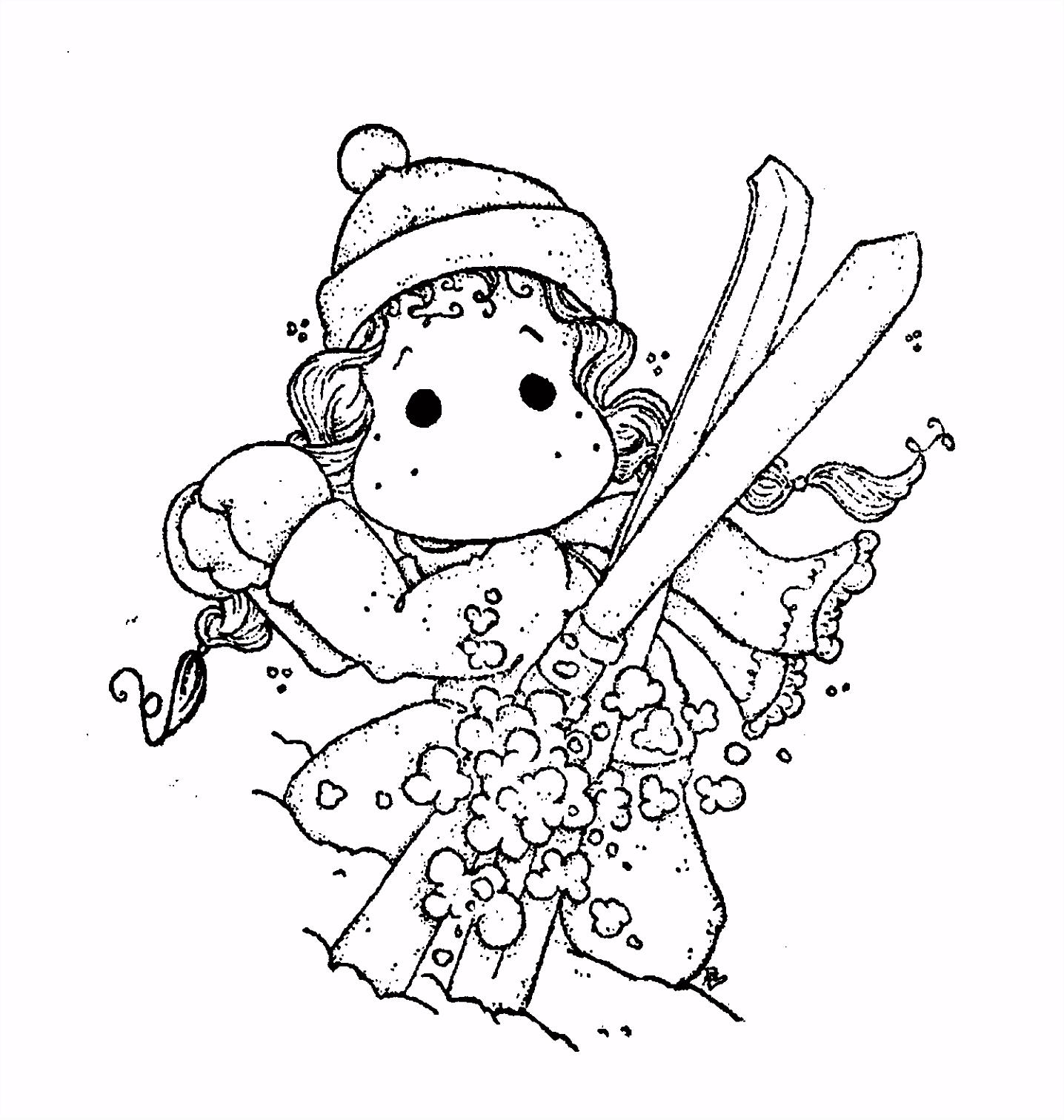 In the snow Tilda Ski Stempel Magnolia Tilda