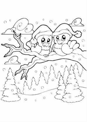 Kleurplaten Winter Sneeuw ARCHIDEV