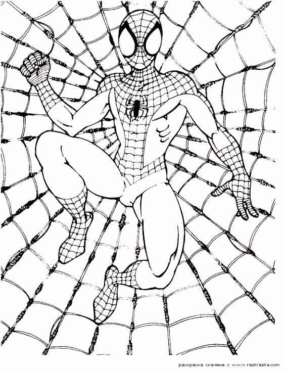 Super Hero Coloring Pages Free