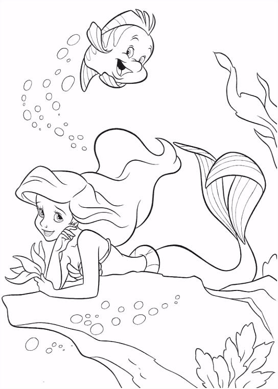 coloring page Ariel The Little Mermaid Kids n Fun