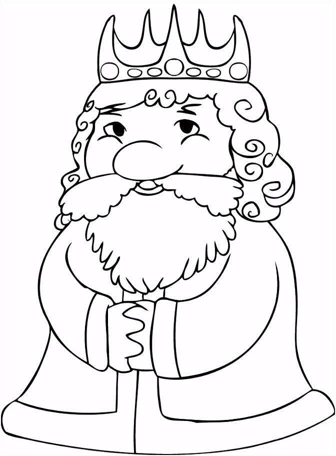 kleurplaat koning Kleuter knutselen sprookjes