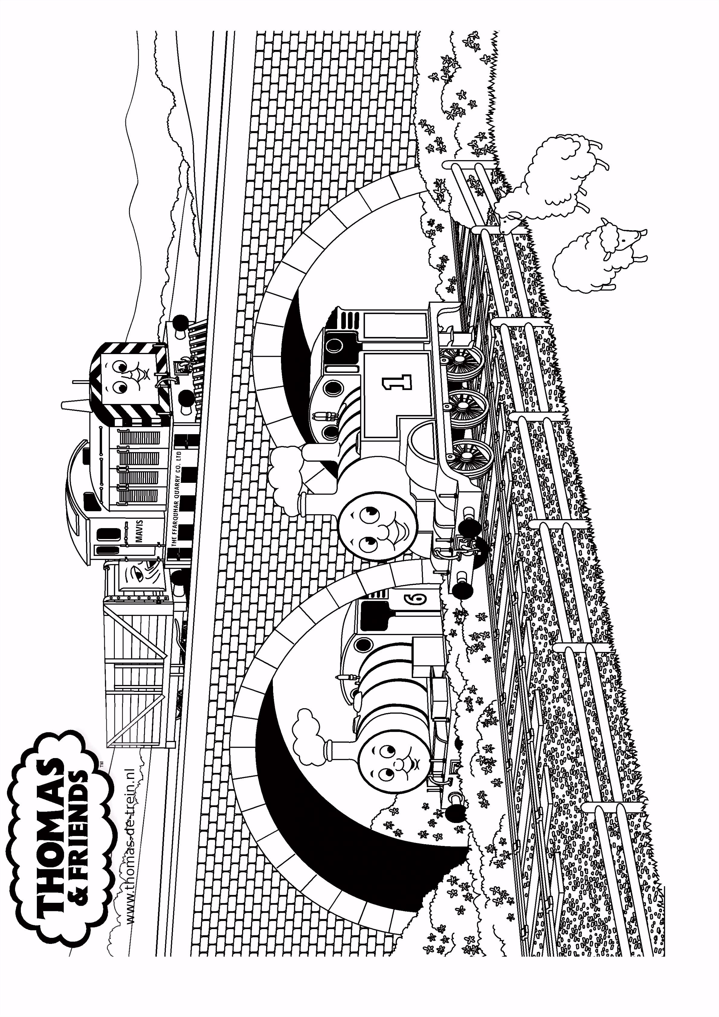Thomas de Trein ¦ Kleurplaat van Thomas de trein en zijn vrienden
