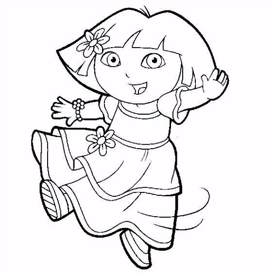 Dora kleurplaat 11