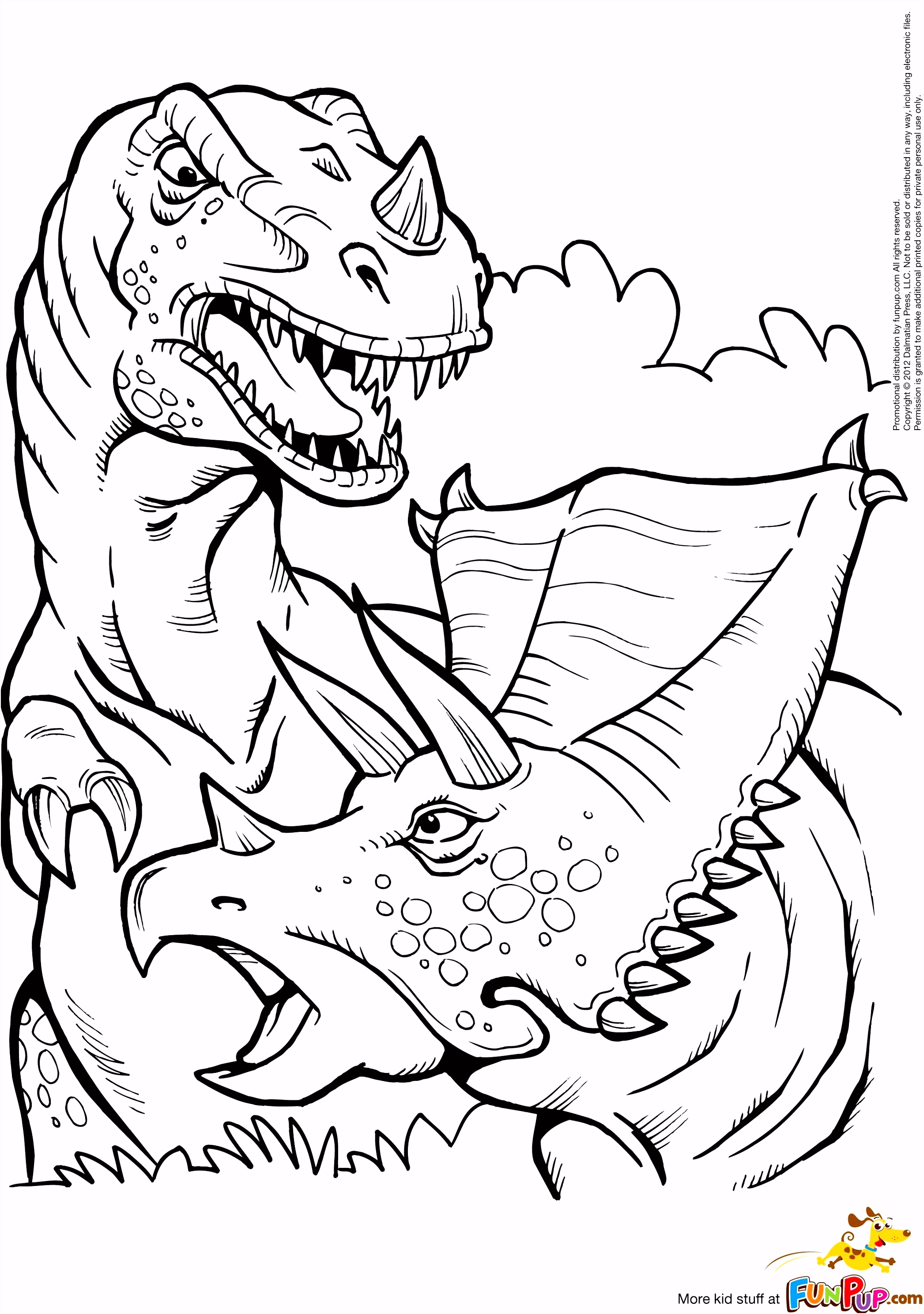 Kleurplaten Ultimate Spiderman Kleurplaat Printable T Rex and Triceratops Coloring Page C2qd15eam4 A6yk4sktss
