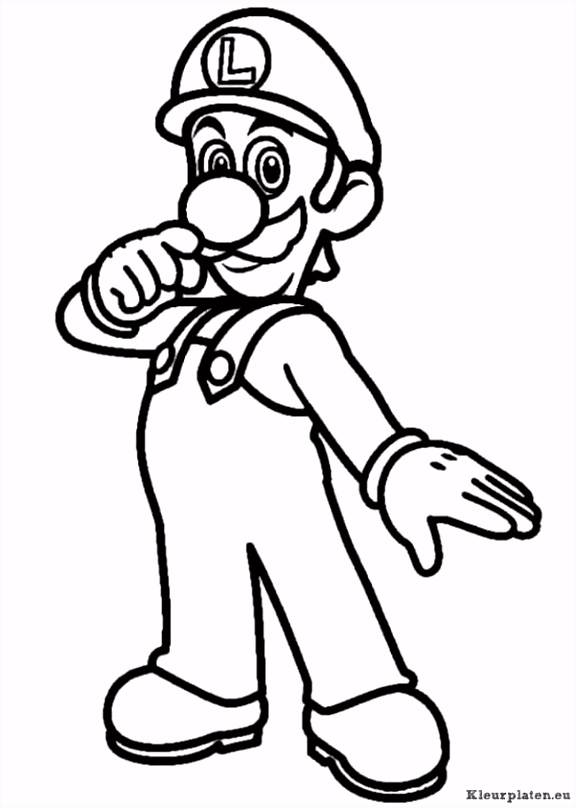Super mario bros kleurplaat adult coloring pages