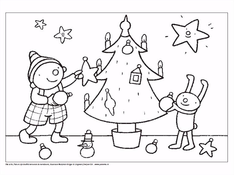 Uk en Puk Kerstmis kleurplaat Kerstmis Pinterest