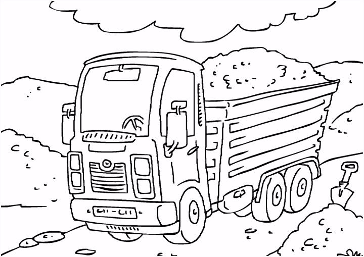 Kleurplaat vrachtwagen Afb